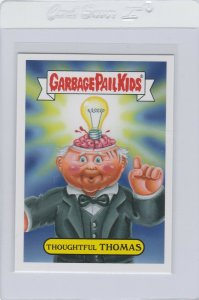 Garbage Pail Kids Thoughtful Thomas 3a GPK 2016 American As Apple Pie In Your Fa