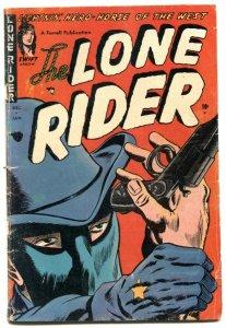 Lone Rider #17 1954- Western Golden Age comic G/VG