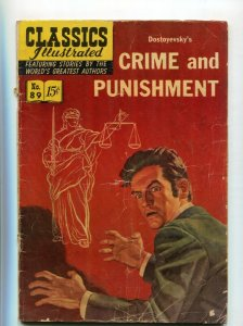 Classics Illustrated  89 GD/VG Crime and Punishment 1st Edition