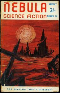 Nebula Science Fiction March 1958- British Pulp Robert Silverberg VG