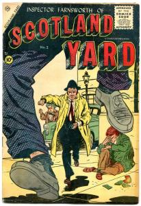 Scotland Yard #2 1955- Charlton Comics- Sekowsky cover VG+