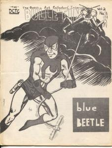 Graphic Art Collectors Int'l Bulletin Vol. 2 #3-Blue Beetle-Marvel comics-VG
