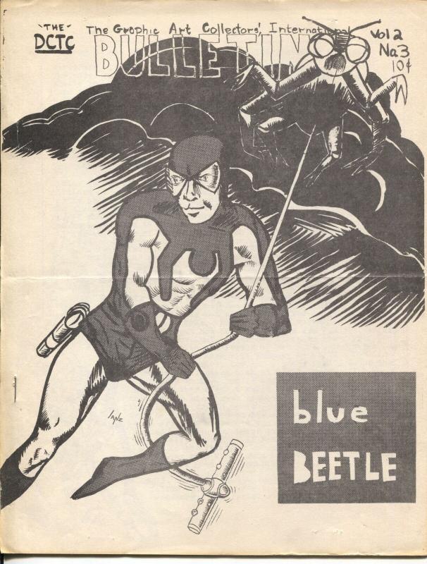 Graphic Art Collectors Int'l Bulletin Vol. 2 #3-Blue Beetle-Marvel comics-VG