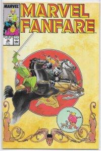 Marvel Fanfare (vol. 1, 1982) #34 FN Warriors Three, Loki, Zelenetz/Vess