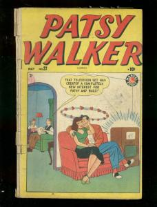 PATSY WALKER #22 1949 MARVEL KURTZMAN DECARLO TV COVER G/VG