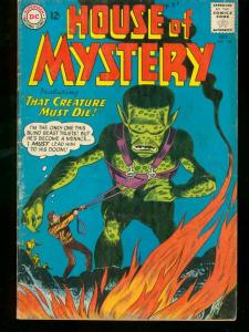 HOUSE OF MYSTERY #138 1963 DC COMICS MONSTER COVER VG