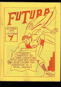 FUTURA FANZINE #7 1965-RARE COMIC COLLECTOR ADZINE FN