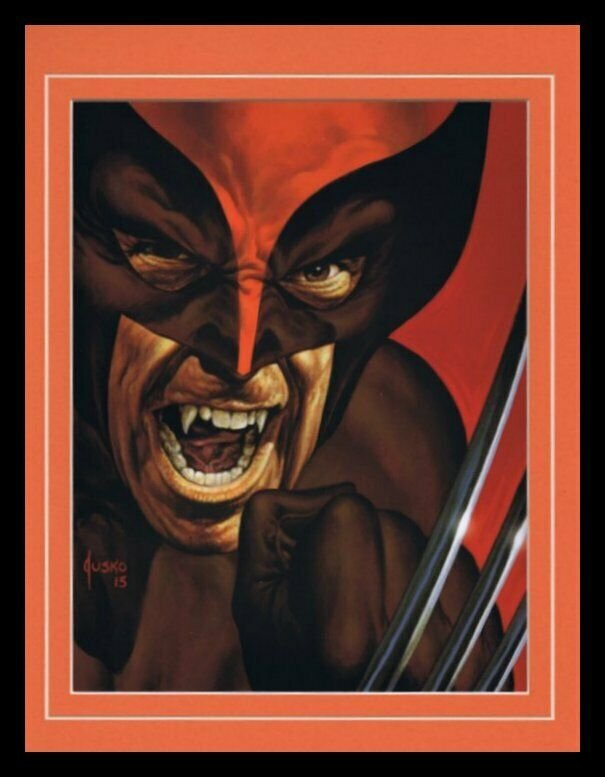 X Men Wolverine Framed 11x14 Marvel Masterpieces Poster Display