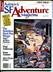 Asimov's SF Adventure Magazine -Fall 1978-1st issue-Poul Anderson-Harrison-VG