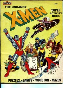 Uncanny X-Men Super Activity Book-1983-Marvel-puzzles-games-Wolverine-VG-