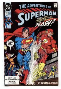 Adventures of Superman #463 1990- Flash Superman Race Post Crisis NM-