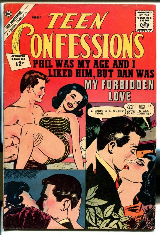 Teen Confessions #18 1962-Charlton-romantic art-swimsuit cover-VG