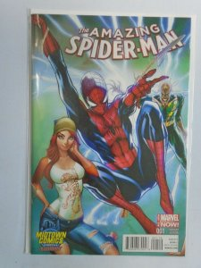 Amazing Spider-Man #1 MIDTOWN variant 8.5 VF+ (2014 3rd Series)