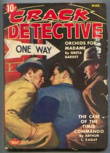 Crack Detective Pulp March 1943- Orchids For Madame VG+