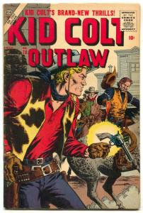 Kid Colt Outlaw #70 1957- John Severin cover- Atlas Western FN+
