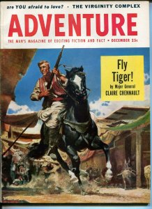 Adventure-12/1954-Frank McCarthy cover-pulp fiction-Flying Tigers-Chennault-FN