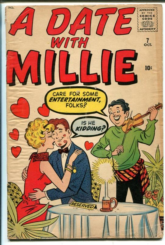 A Date With Millie #7 1960-Atlas-Dan DeCarlo-final issue-paper dolls-fashion-G