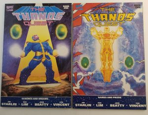 The Thanos Quest #1 & 2 VF+ 1st Print 1990 Marvel Comics Jim Starlin Ron Lim
