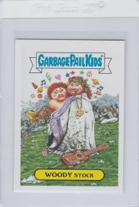 Garbage Pail Kids Woody Stock 9b GPK 2016 American As Apple Pie In Your Face
