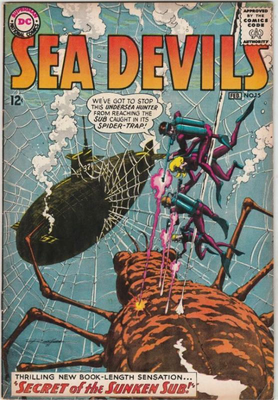 Sea Devils #15 (Feb-64) FN/VF+ High-Grade Sea Devils (Dane Dorrence, Biff Bai...