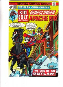Western Gunfighters #33 (Nov-75) FN Mid-Grade Kid Colt