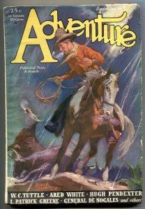 Adventure Pulp September 15 1931- Tuttle- General De Nogales