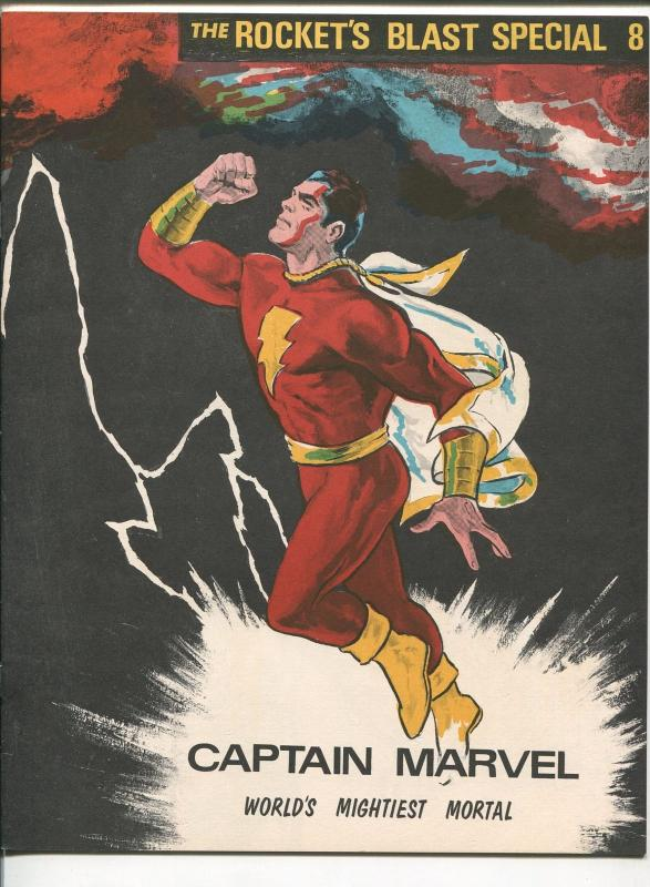 ROCKET'S BLAST SPECIAL #6 1960'S-CAPTAIN MARVEL-ORIGIN-DON NEWTON ART-vf