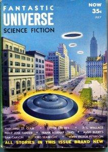 FANTASTIC UNIVERSE SCIENCE FICTION-July 1954-Pulp-ALEX SCHOMBURG-PHILIP JOSE FAR