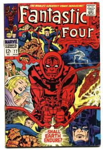 FANTASTIC FOUR #77 comic book 1968-MARVEL COMICS-JACK KIRBY VF