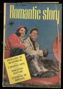 ROMANTIC STORY #2 1950-PHOTO COVER-FAWCETT COMICS VG