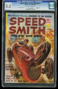 SPEED SMITH THE HOT ROD KING #1-CGC 5.5-SAUNDERS-SOUTHERN STATES 1161201009