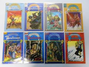 Hawkmoon The Mad God's Amulet 2 Sets Of 4, 8 Different 8.0/VF (1987)