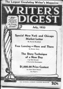 Writer's Digest 7/1933-Weird Tales-Magic Carpet-Nickel detective-pulp mag info-G