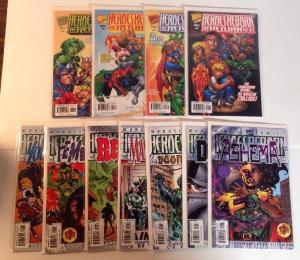 Heroes Reborn The Return 1-4 Plus 7 One shots Complete Near Mint Lot Set Run
