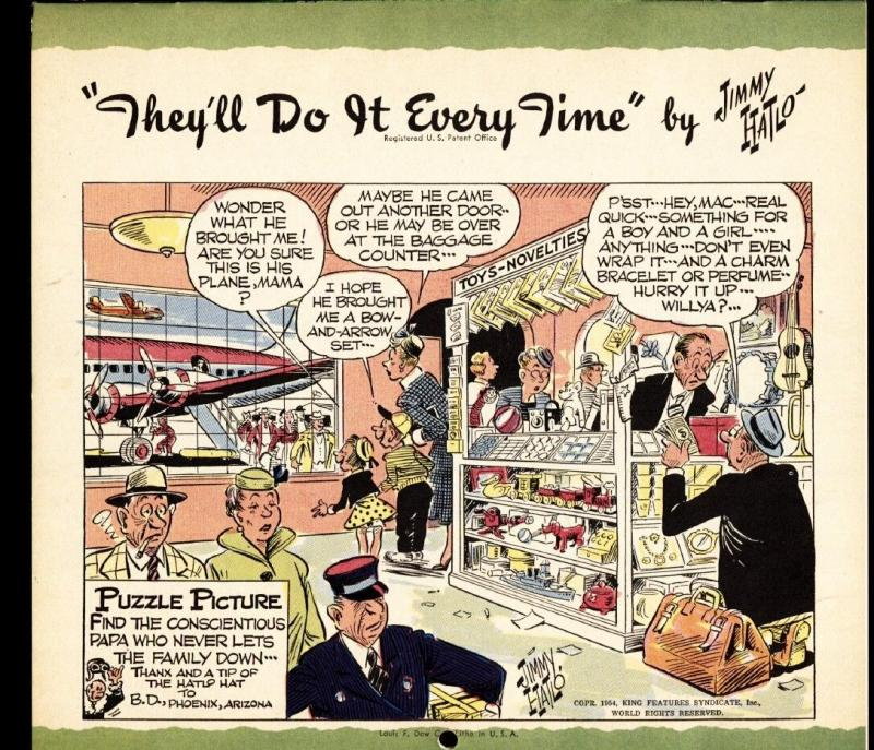 They'll Do It Every Time 1957 Calendar-Jimmy Hailo RARE