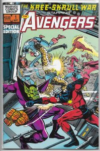 Kree-Skrull War starring the Avengers #1 VF (rep. 93-94) Neal Adams, Buscema