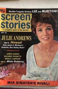 Screen Stories  Nov.1966-Julie James Liz&Dick,C all my mags! Combine!