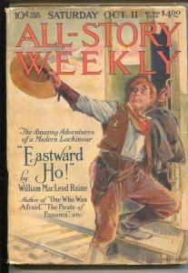 All-Star Weekly 10/11/1919-Modest Stein cover-William MacLeod Raine-pulp myst...