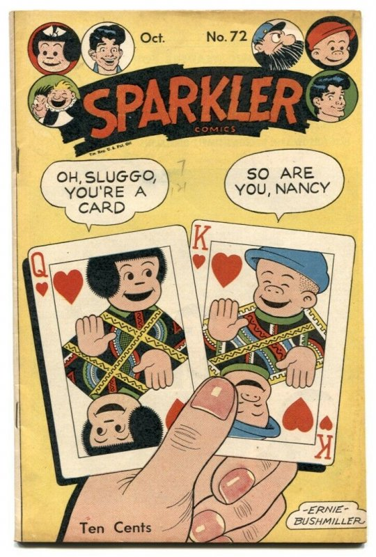 Sparkler Comics #72 1947- playing card cover FN