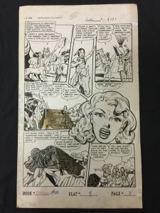 Firehair #10 Page 8 Original Comic Art  1951 Golden Age Fiction House Western