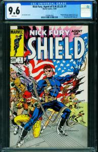 Nick Fury, Agent Of Shield #1 CGC 9.6 STERANKO 2038907004