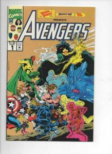AVENGERS #1 Sugar Babies Edition, NM, Captain America, w / cards attached, 1993