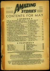 Amazing Stories Pulp May 1942- Lord of the Crytal Bow- Farnsworth-  Reading Copy
