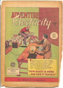 Adventures in Electricity #1 1946-GE-1st issue-nice art-FR
