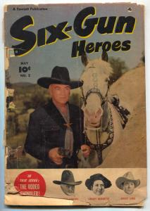 Six-Gun Heroes #2 1950 -HOPALONG CASSIDY-GOLDEN AGE WESTERN fair