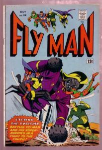 FLY MAN #32 1965- FLY GIRL-BLACK HOOD-SHIELD-COMET-MLJ VG