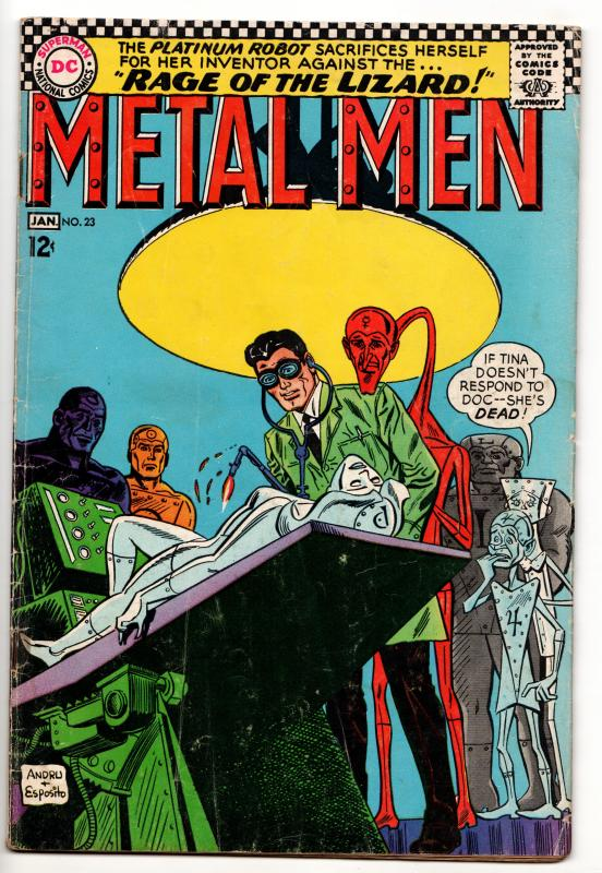 Metal Men #23 - Rage Of The Lizard (DC, 1967) - GD/VG