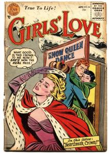 GIRLS LOVE STORIES #34 1955-ROMANCE-FIRST CODE ISSUE-DC g-