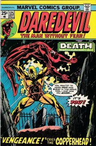 Daredevil 125 FN/VF Death of Copperhead Start of Wolfman Scripts (Sept. 1975)