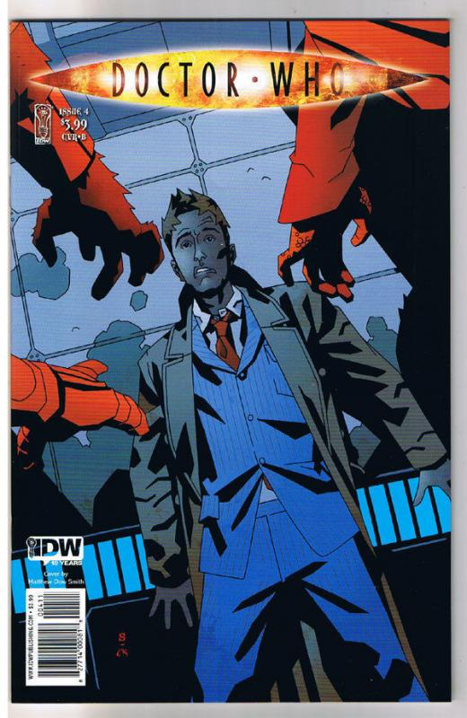 DOCTOR WHO #4 B, NM-, Matthew Smith, Fugitive, Judoon, 2009,IDW,more DW in store